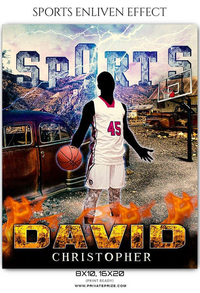 David Christopher - Basketball Sports Enliven Effect Photography Template