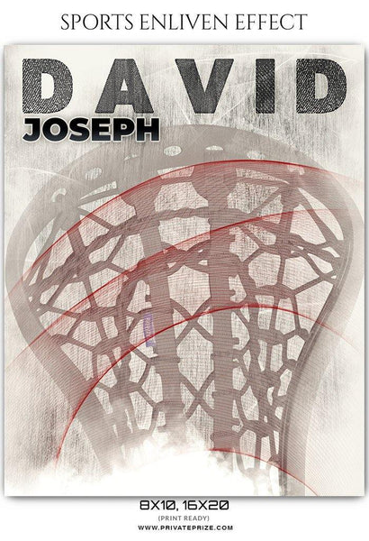 David Joseph - Lacrosse Sports Enliven Effects Photography Template - Photography Photoshop Template