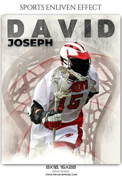David Joseph - Lacrosse Sports Enliven Effects Photography Template