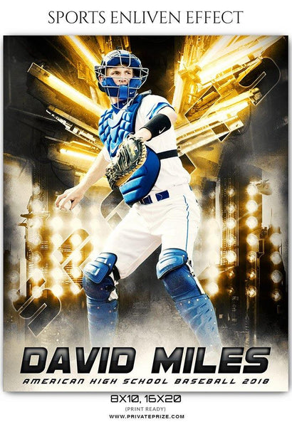 David Miles - Baseball Sports Enliven Effects Photography Template - Photography Photoshop Template