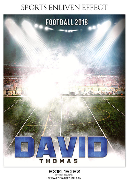 DAVID THOMAS-FOOTBALL- SPORTS ENLIVEN EFFECT - Photography Photoshop Template