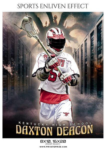 Daxton Deacon - Lacrosse Sports Enliven Effects Photography Template