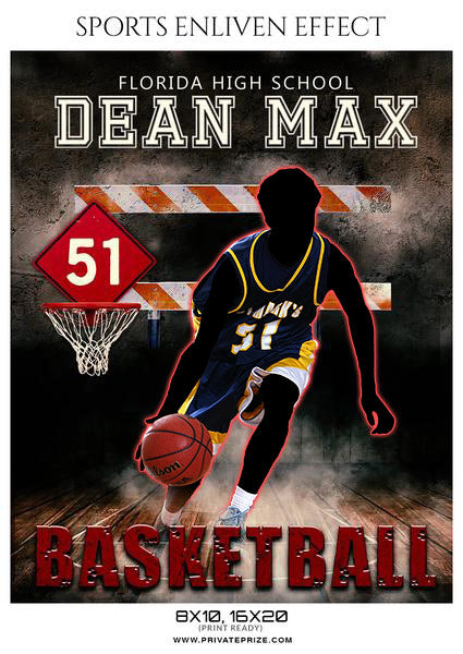 Dean Max - Basketball Sports Enliven Effects Photoshop Template