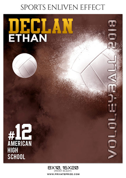 DECLAN ETHAN-VOLLEYBALL- SPORTS ENLIVEN EFFECT - Photography Photoshop Template
