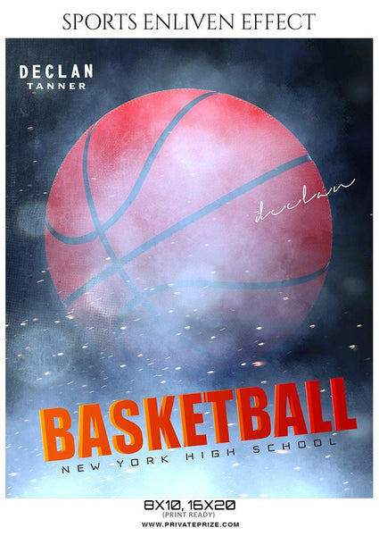 Declan Tanner - Basketball Sports Enliven Effect Photography Template