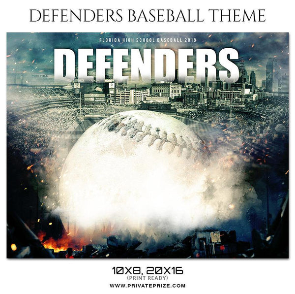 Defenders - Baseball Sports Theme Sports Photography Template