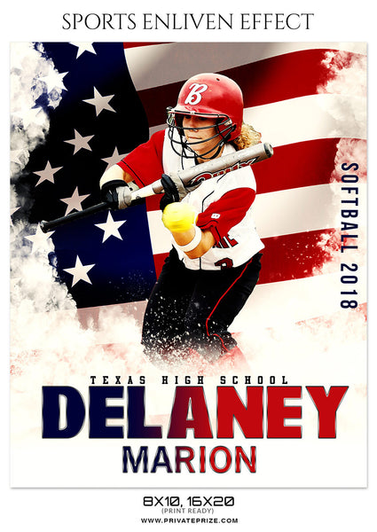 DELANEY MARION SOFTBALL SPORTS PHOTOGRAPHY - Photography Photoshop Template