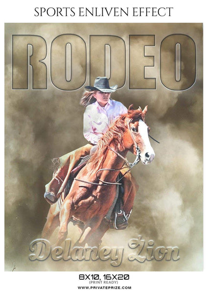 Delaney Zion - Rodeo Sports Enliven Effects Photography Template