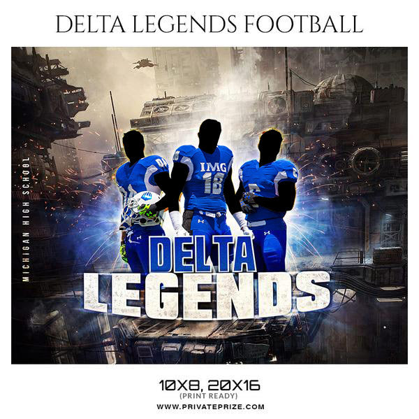 DELTA LEGENDS FOOTBALL Theme Sports Photography Template