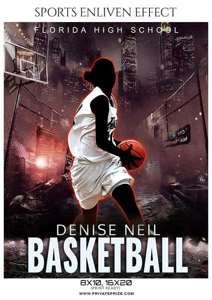 Denise Neil - Basketball Sports Enliven Effects Photography Template