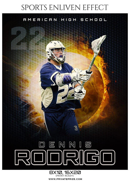 Dennis Rodrigo - Lacrosse Sports Enliven Effects Photography Template - Photography Photoshop Template