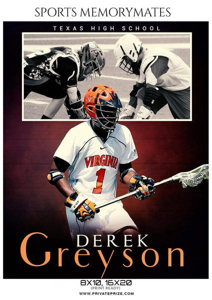 Derek Greyson - Lacrosse Memory Mate Photography Template - Photography Photoshop Template