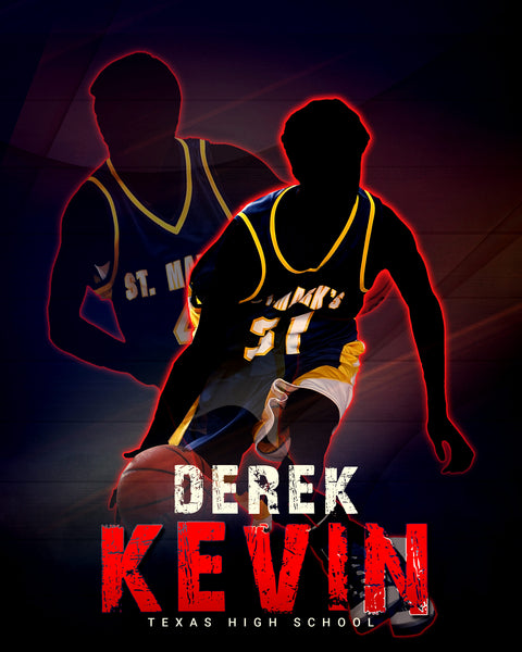 Derek Kevin - Basketball Sports Memory Mates Photography Template