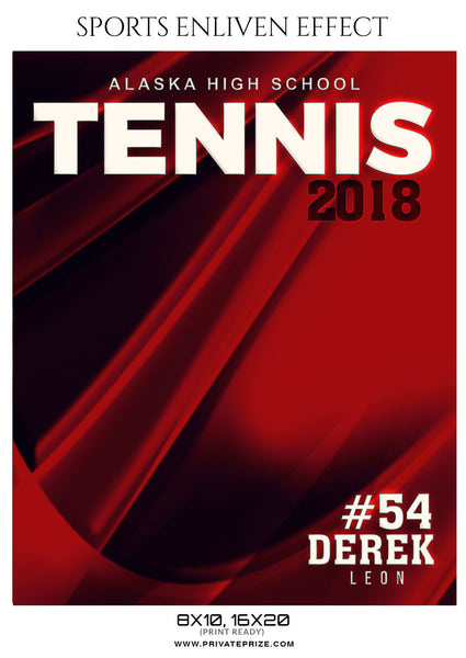 DEREK LEON-TENNIS - SPORTS ENLIVEN EFFECT - Photography Photoshop Template