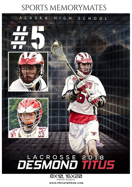 Desmond Titus - Lacrosse Memory Mate Photography Template - Photography Photoshop Template