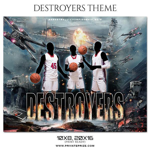 Destroyers - Basketball Themed Sports Photography Template