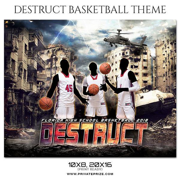 Destruct - Basketball Theme Sports Photography Template