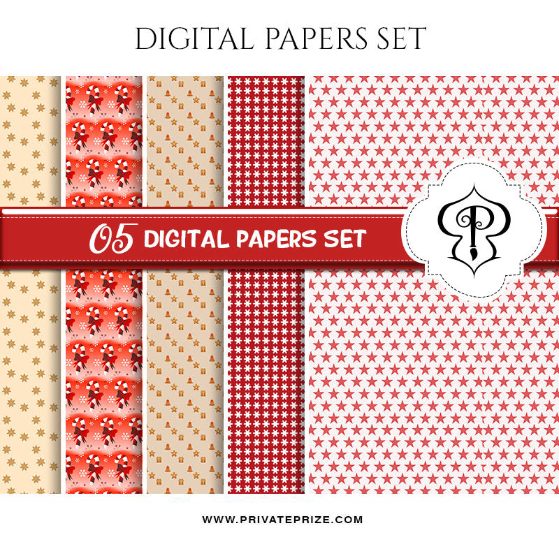 Christmas - Digital Paperpack - Photography Photoshop Template