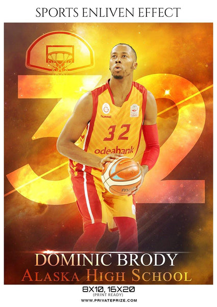 Dominic Brody - Basketball Sports Enliven Effect Photography Template
