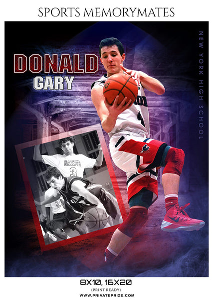 DONALD GARY BASKETBALL- SPORTS ENLIVEN EFFECTS - Photography Photoshop Template