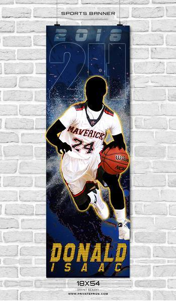 Donald Isaac -Basketball-Enliven Effects Sports Banner Photoshop Template