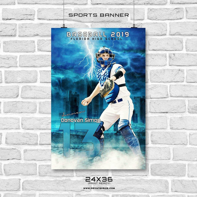Donovan Simon- Baseball Enliven Effects Sports Banner Photoshop Template