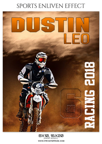 DUSTIN LEO-BIKE-RACING- SPORTS ENLIVEN EFFECT - Photography Photoshop Template