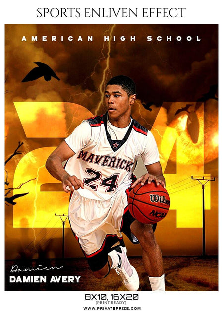 Damien Avery - Basketball Sports Enliven Effect Photography Template