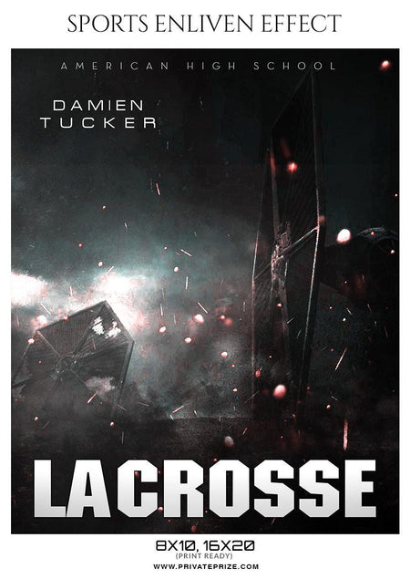 Damien Tucker - Lacrosse Sports Enliven Effects Photography Template