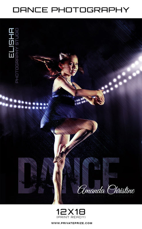 Elisha Dance Photography - Enliven Effects Photoshop Template - Photography Photoshop Templates