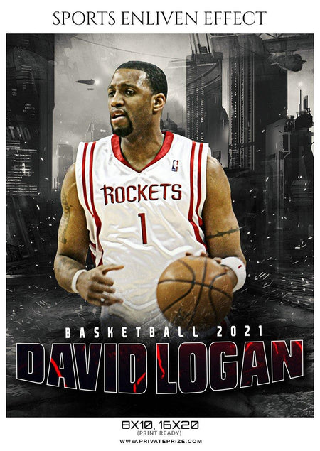 David Logan - Basketball Sports Enliven Effect Photography Template