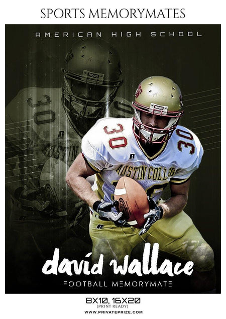 David Wallace - Football Memory Mate Photoshop Template