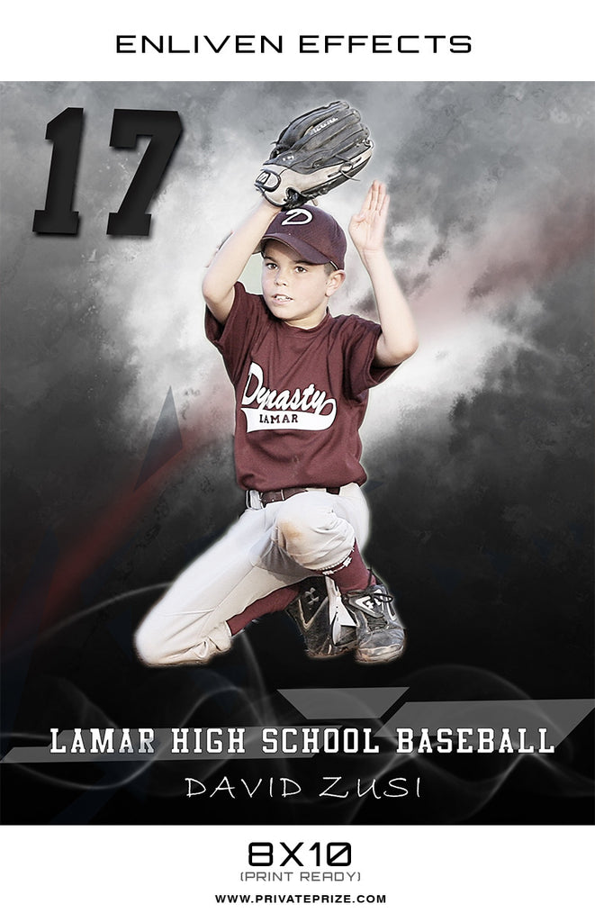 David Lamar High School Baseball - Enliven Effect - Photography Photoshop Templates