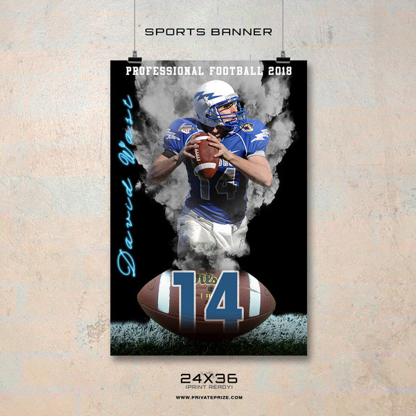 David - Enliven Effects Sports Banner Photoshop Template - Photography Photoshop Templates