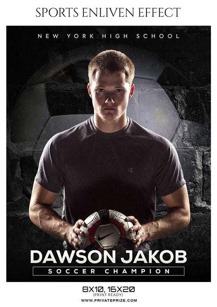 Dawson Jakob - Soccer Sports Enliven Effect Photography Template