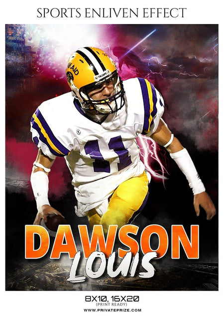 Dawson Louis - Football Sports Enliven Effect Photography Template