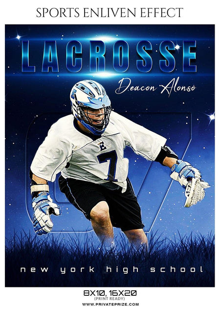 Deacon Alonso - Lacrosse Sports Enliven Effects Photography Template - Photography Photoshop Template