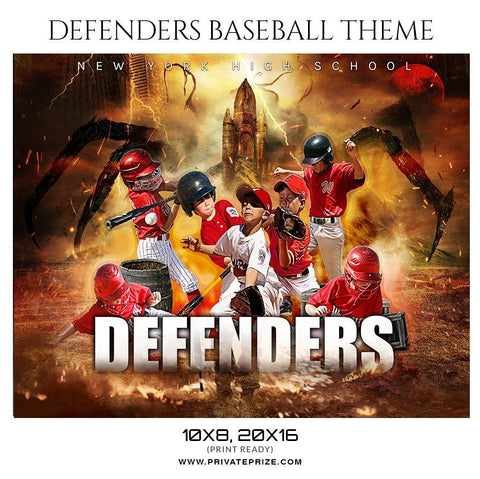 Defenders  Baseball - Sports Theme Sports Photography Template