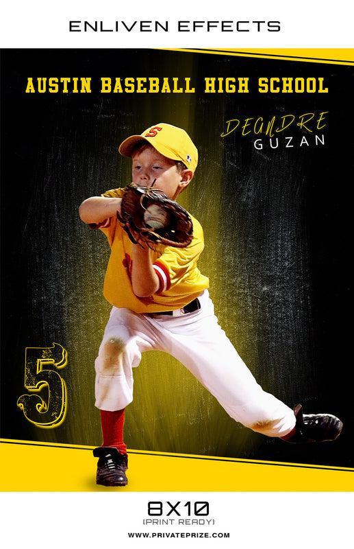 Degndre Austin High School Baseball  - Enliven Effect - Photography Photoshop Templates