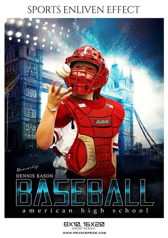 Dennis Kason - Baseball Sports Enliven Effect Photography Template