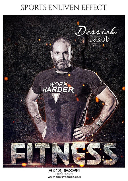 Derrick Jakob - FITNESS SPORTS ENLIVEN EFFECT - Photography Photoshop Template