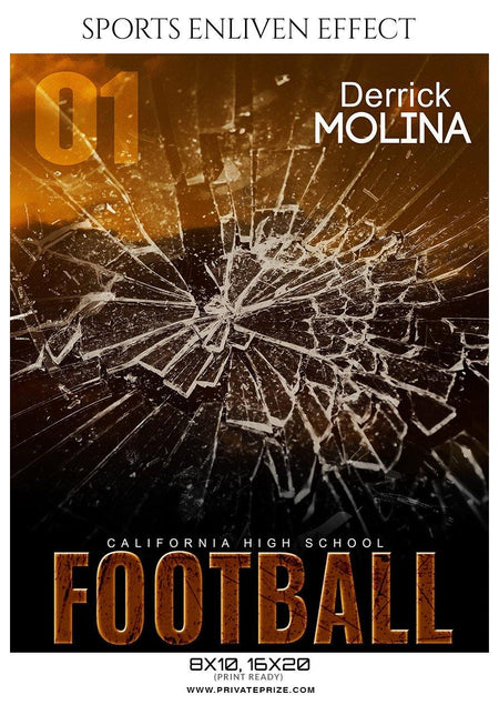 Derrick Molina - Football Sports Enliven Effect Photography Template