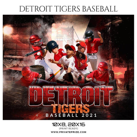 Detroit Tigers - Sports Theme Sports Photography Template - PrivatePrize - Photography Templates