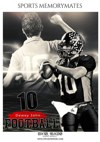 Dewey John - Football Memory Mate Photoshop Template
