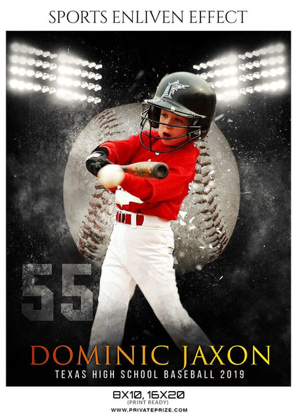 Dominic Jaxon - Baseball Sports Enliven Effect Photography Template