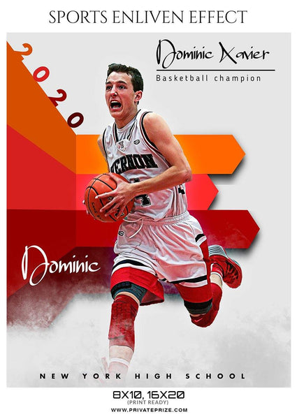 Dominic Xavier - Basketball Sports Enliven Effect Photography Template