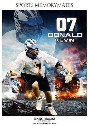 Donald Kevin - Lacrosse Memory Mate Photoshop Template