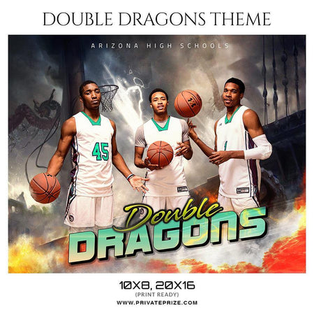 Double Dragon - Basketball - Theme Sports Photography Template - PrivatePrize - Photography Templates