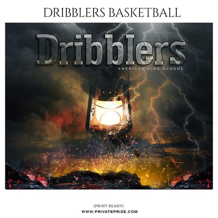 Dribblers - Themed Sports Photography Template - Photography Photoshop Template