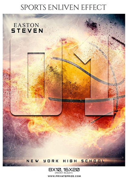 Easton Steven - Basketball Sports Enliven Effect Photography Template